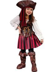 Toddler Girls High Seas Buccaneer Pirate Costume