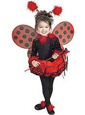 Girls Ballerina Ladybug Costume