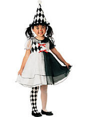 Girls Lil Harlequin Costume