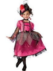 Girls Lil Miss Spider Princess Costume