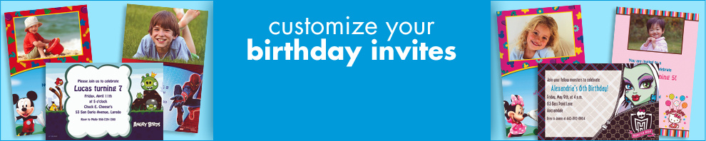 Customize Your Birthday Invites