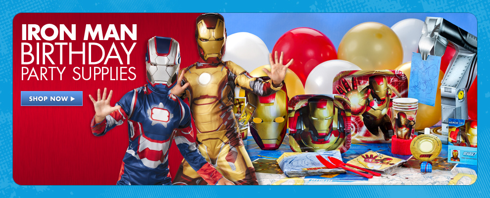 Iron Man Birthday Party Supplies
