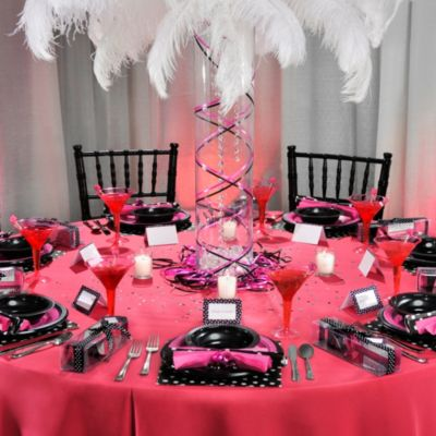 Sassy Pink & Black Bachelorette Party Decoration Ideas - Party City