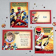 Power Rangers Party Invitation Ideas