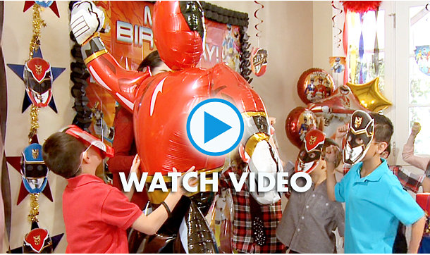 Power Rangers Party Ideas Video