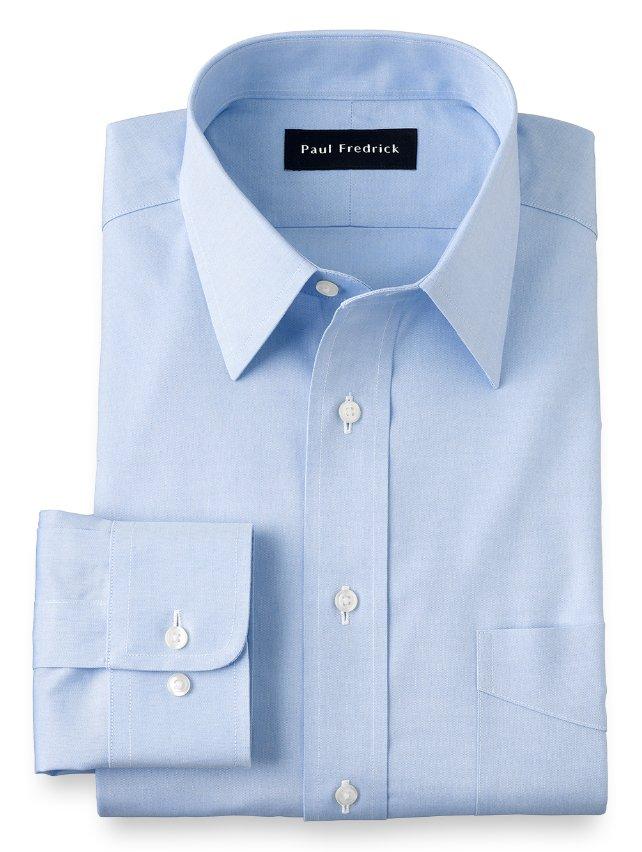 Non-Iron Cotton Pinpoint Straight Collar Dress Shirt