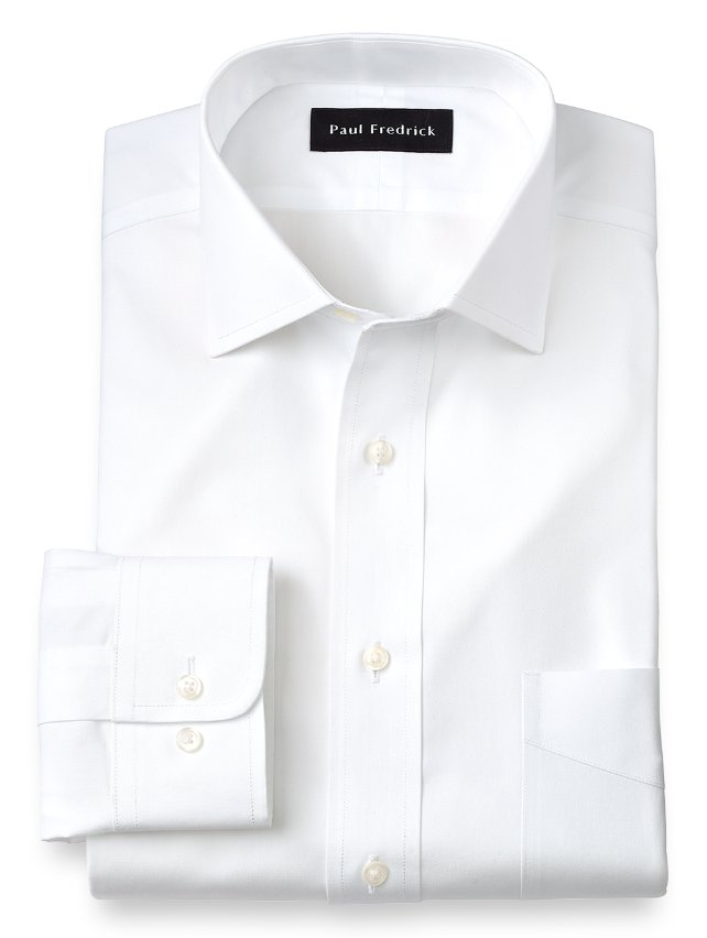 Non-Iron Cotton Pinpoint Windsor Spread Collar Dress Shirt