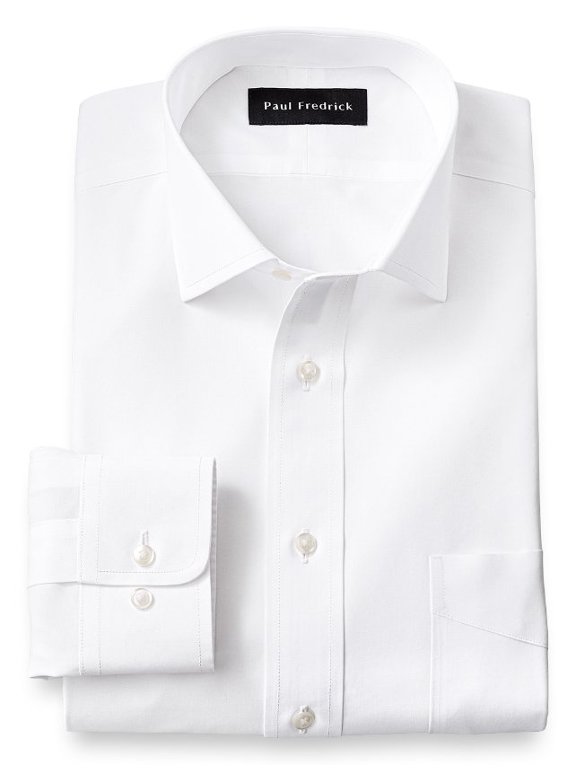 Non-Iron Supima Cotton Spread Collar Dress Shirt