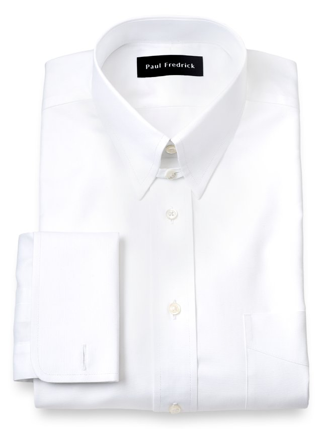 Egyptian Cotton Button Tab Collar French Cuff Dress Shirt