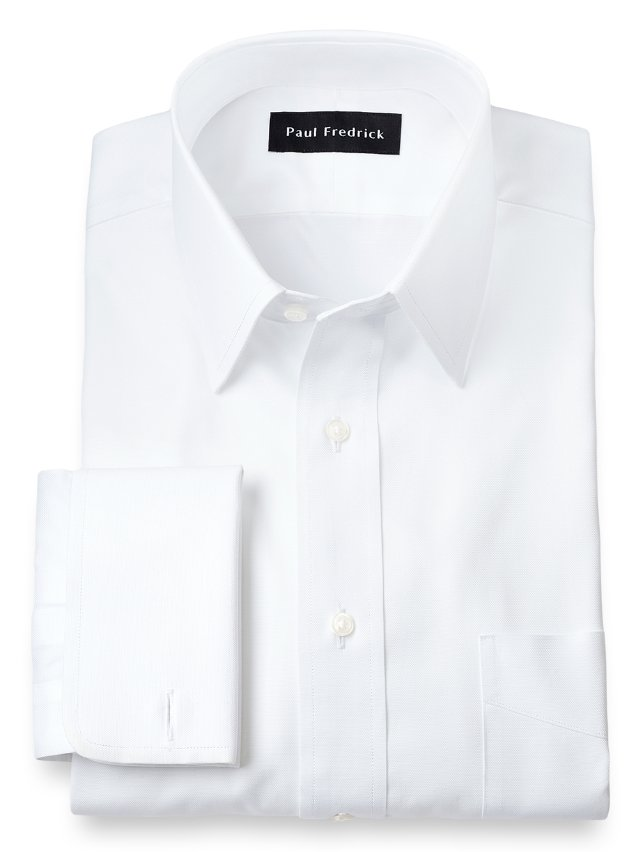Egyptian Cotton Straight Collar French Cuff Dress Shirt