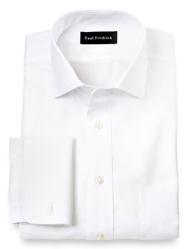 Non-Iron Impeccable Cotton Spread Collar Dress Shirt