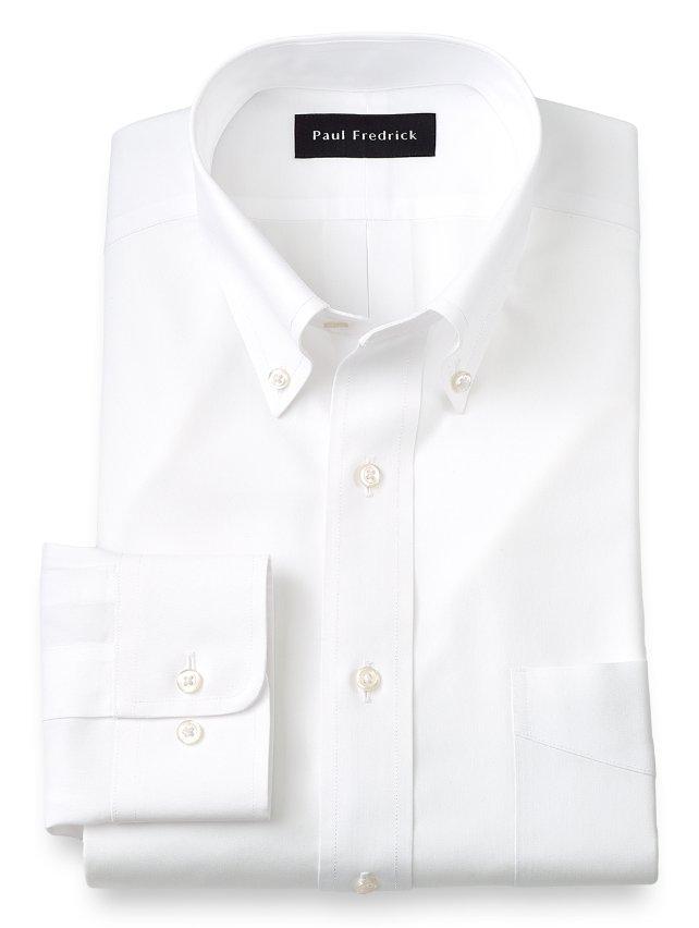 Slim Fit Non-Iron Impeccable Cotton Button Down Collar Dress Shirt