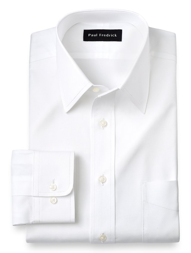 Slim Fit Egyptian Cotton Straight Collar Dress Shirt