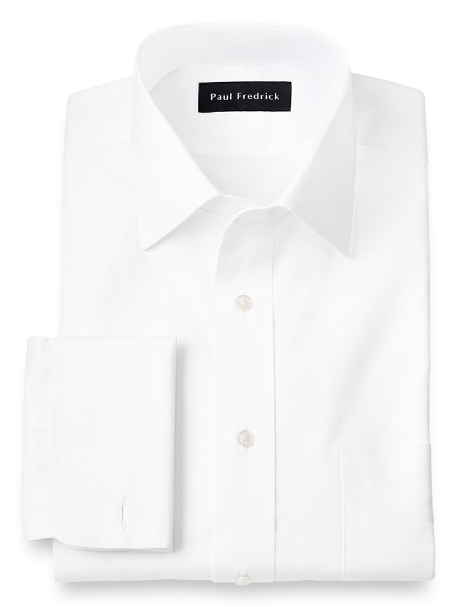 Slim Fit Egyptian Cotton Spread Collar French Cuff Dress Shirt