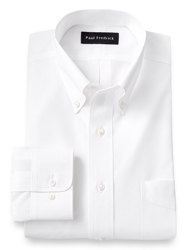Slim Fit Non-Iron Supima Cotton Button Down Collar Dress Shirt