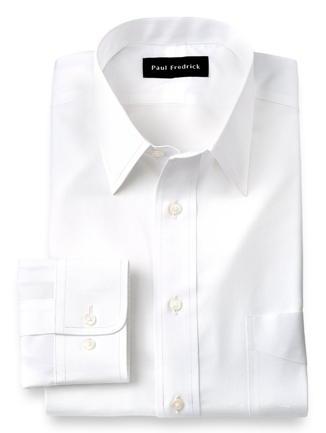 Slim Fit Non-Iron Supima Cotton Straight Collar Dress Shirt