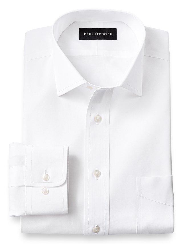 Slim Fit Non-Iron Supima Cotton Windsor Spread Collar Dress Shirt