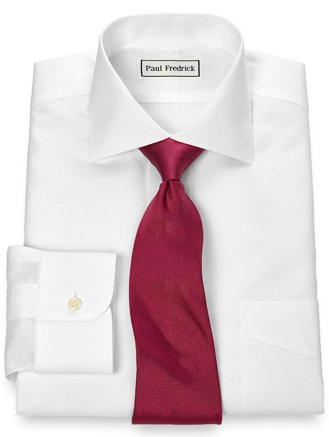 Slim Fit Non-Iron Supima Cotton Cutaway Collar Dress Shirt