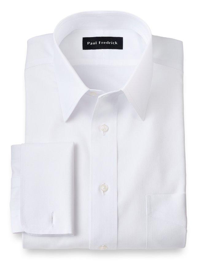 Slim Fit Non-Iron Impeccable Cotton Straight Collar Dress Shirt