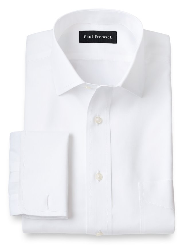 Slim Fit Non-Iron Supima Cotton Windsor Spread Collar French Cuff Dress Shirt