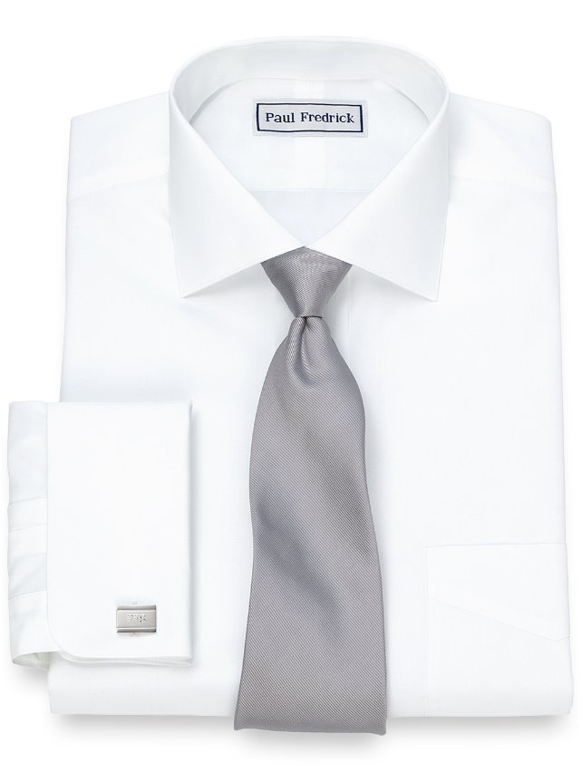 Slim Fit Non-Iron Supima Cotton Cutaway Collar French Cuff Dress Shirt