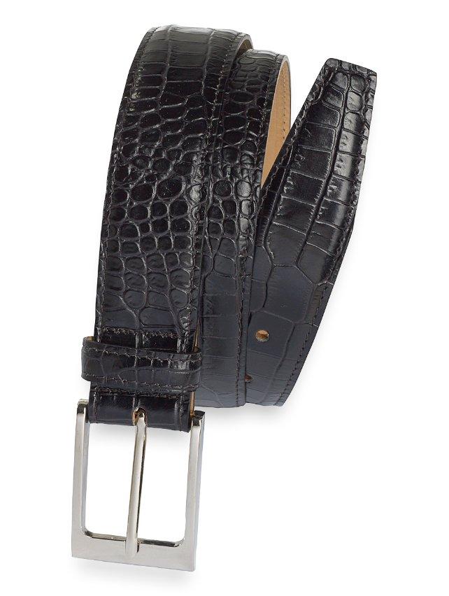 Harrington Crocodile Embossed Belt