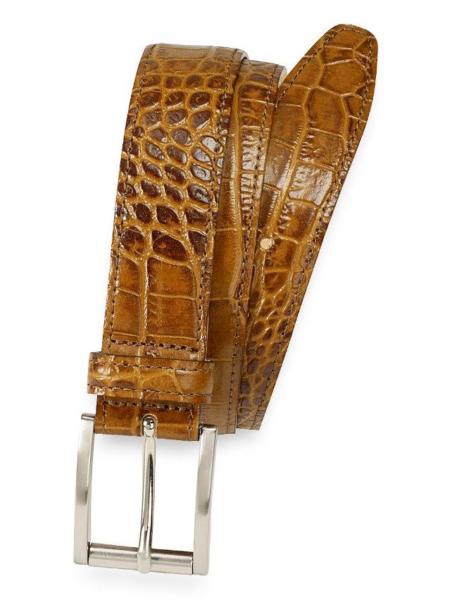Laird Crocodile Embossed Belt