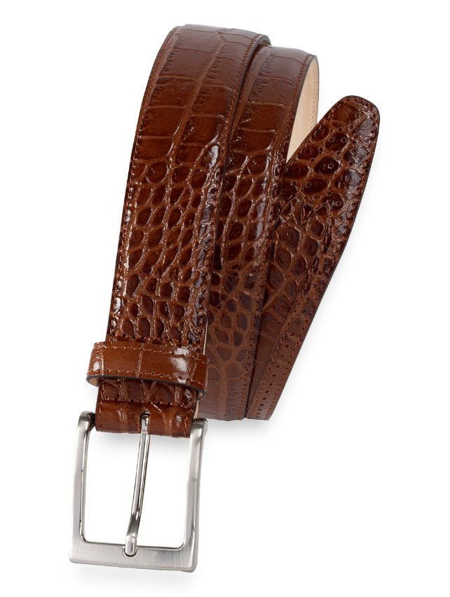 Clint Embossed Leather Belt