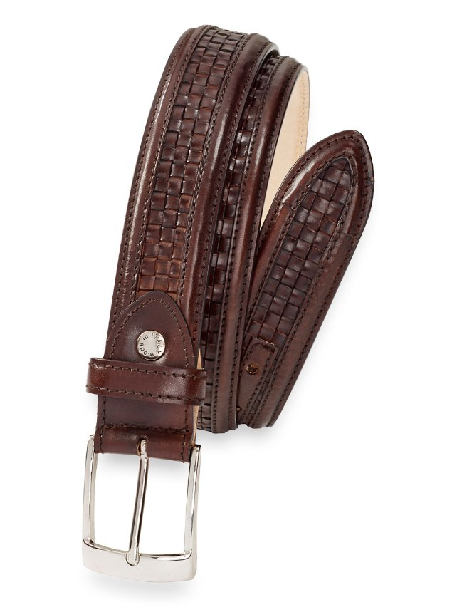 Blaine Woven Leather Belt