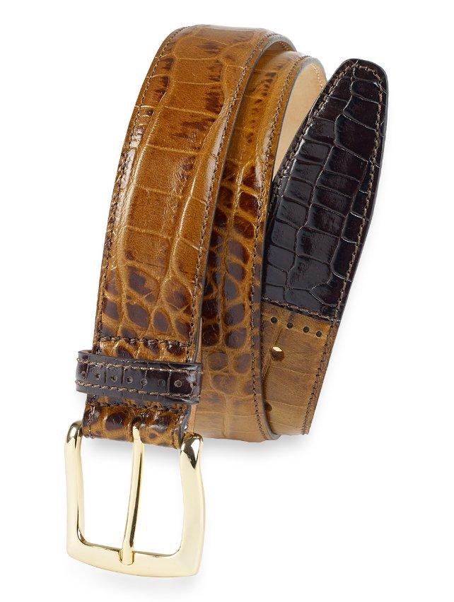 Barrett Crocodile Embossed Leather Belt