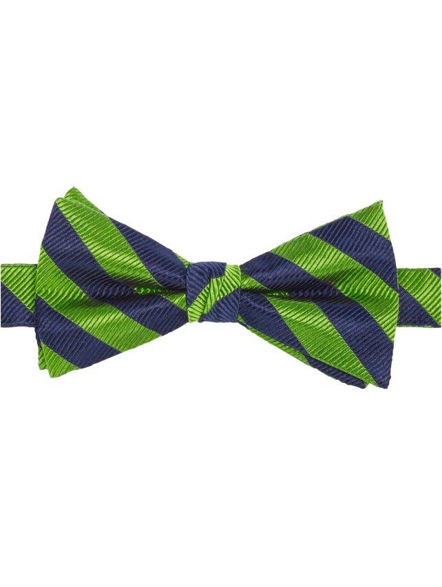 Striped Pre-Tied Bow Tie