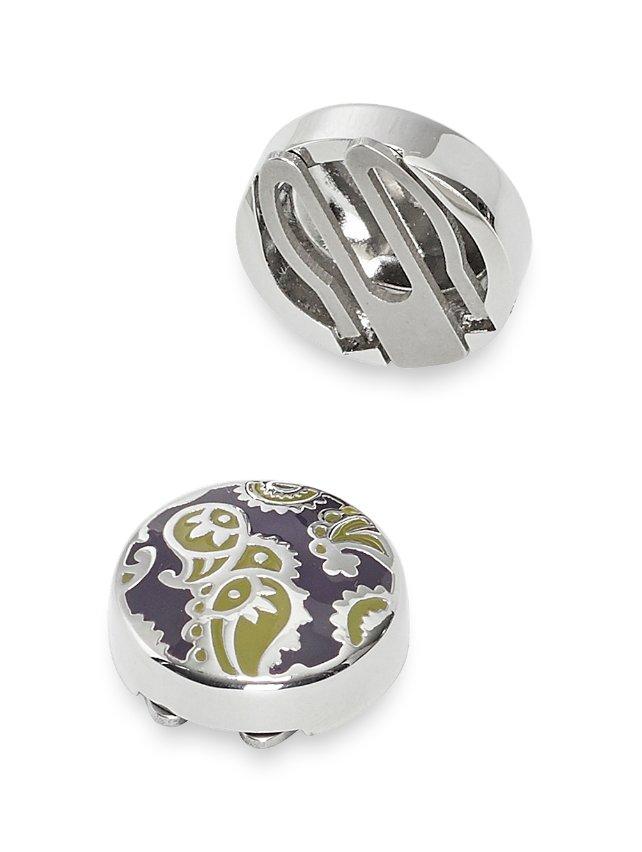 Enamel Paisley Button Covers