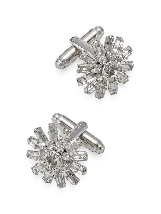 Crystal Starburst Cufflinks