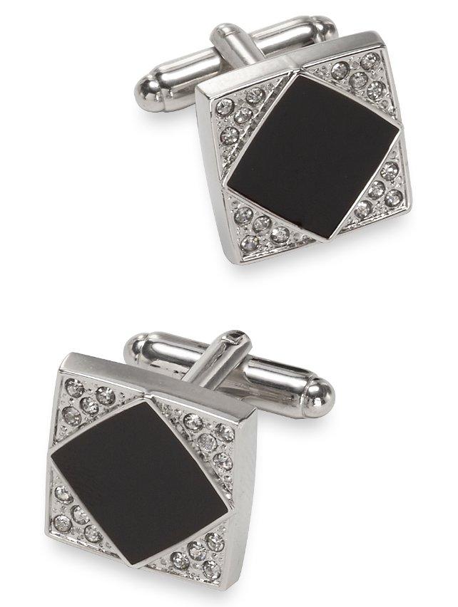 Crystal And Enamel Square Cufflink