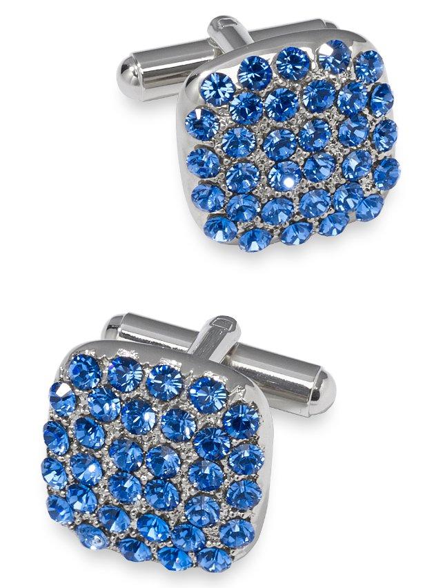 Swarovski Embedded Crystal Cushion Cufflink