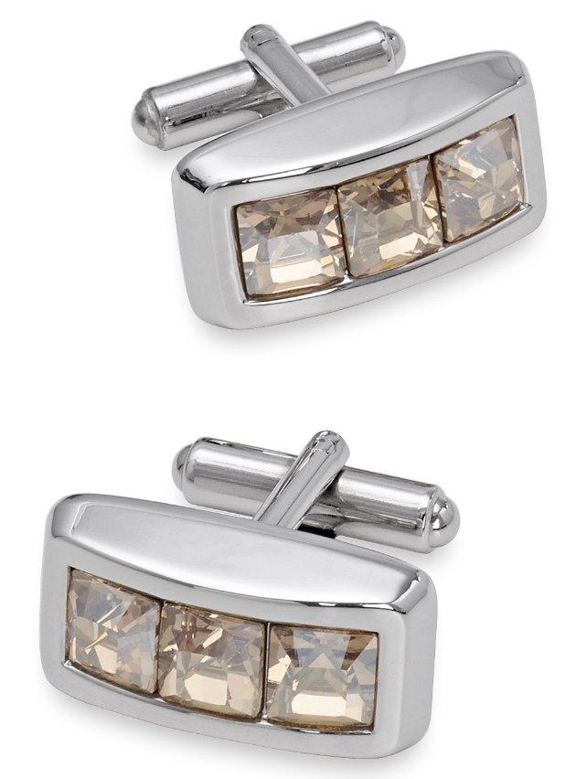 Swarovski Crystal Rectangle Cufflink