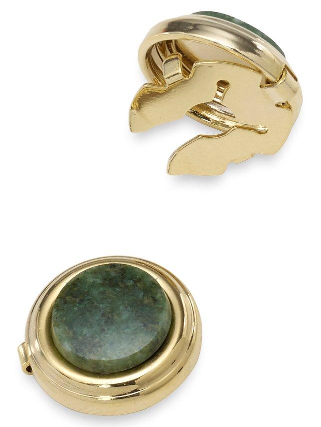 Jade Semi Precious Stone Button Cover