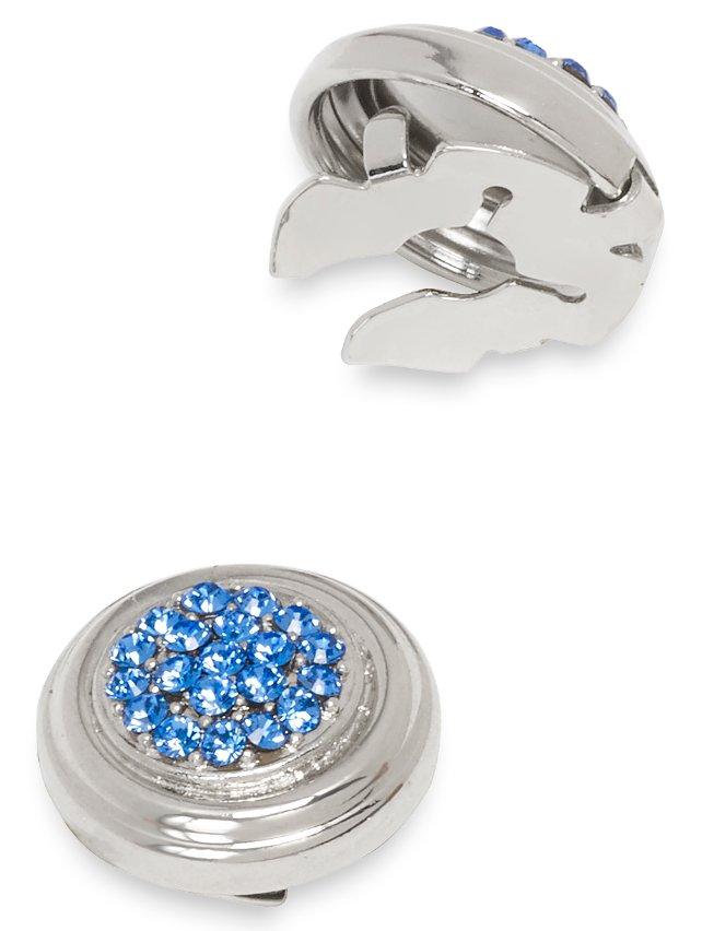 Embedded Swarovski Crystal Button Cover