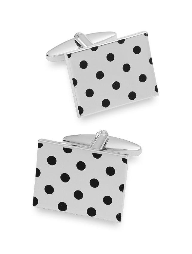 Enamel Dots Rectangle Cufflink