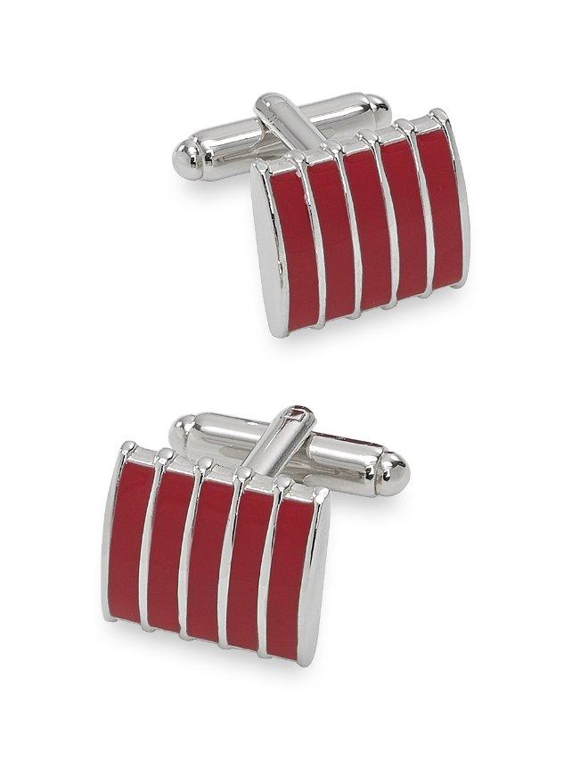 Enamel Striped Rectangle Cufflink