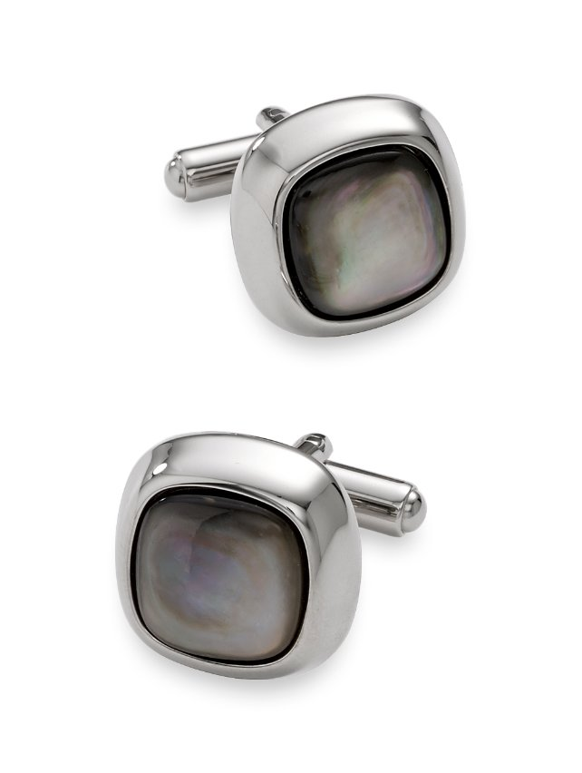 Mother Of Pearl Round Cufflink