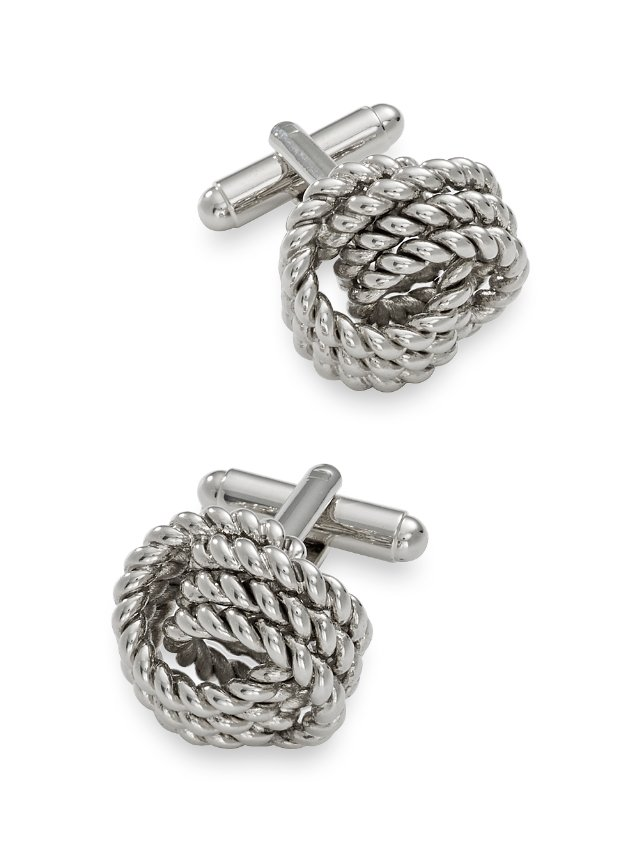 Twisted Metal Knot Cufflink