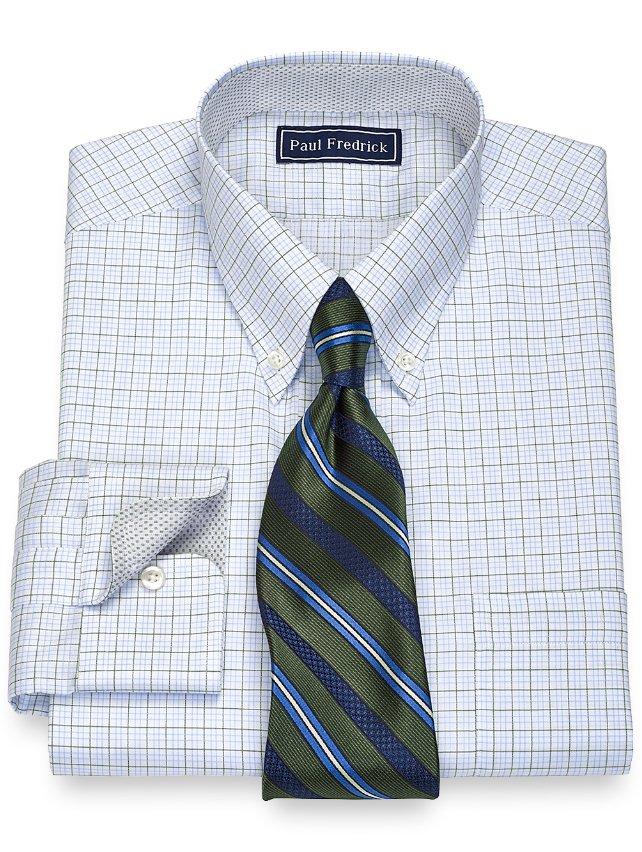 Slim Fit Cotton Tattersall Dress Shirt
