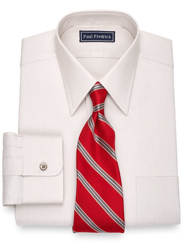 Slim Fit Cotton Diamond Dress Shirt