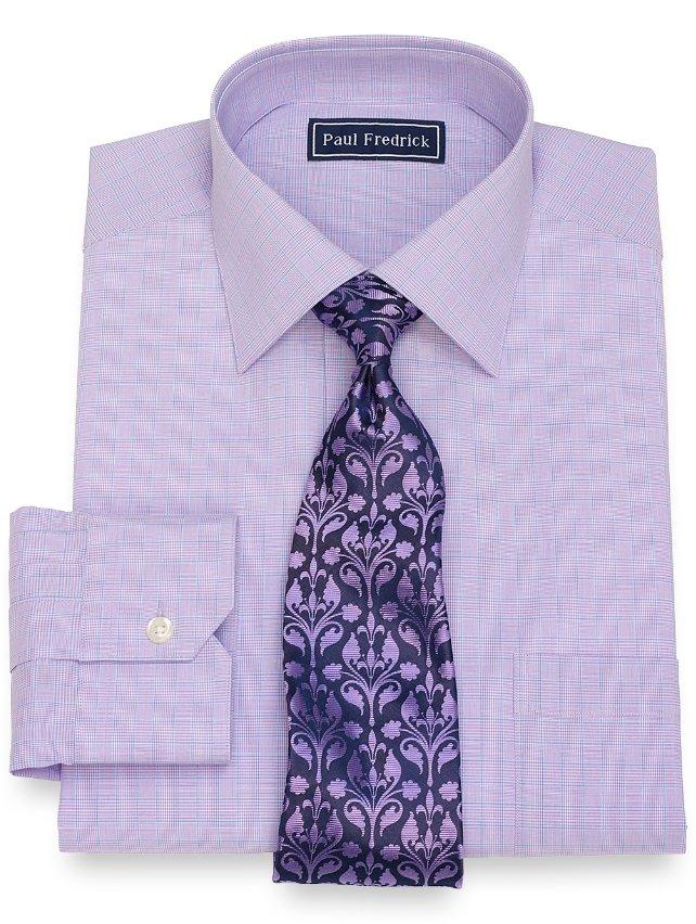 Cotton Plaid Dress Shirt