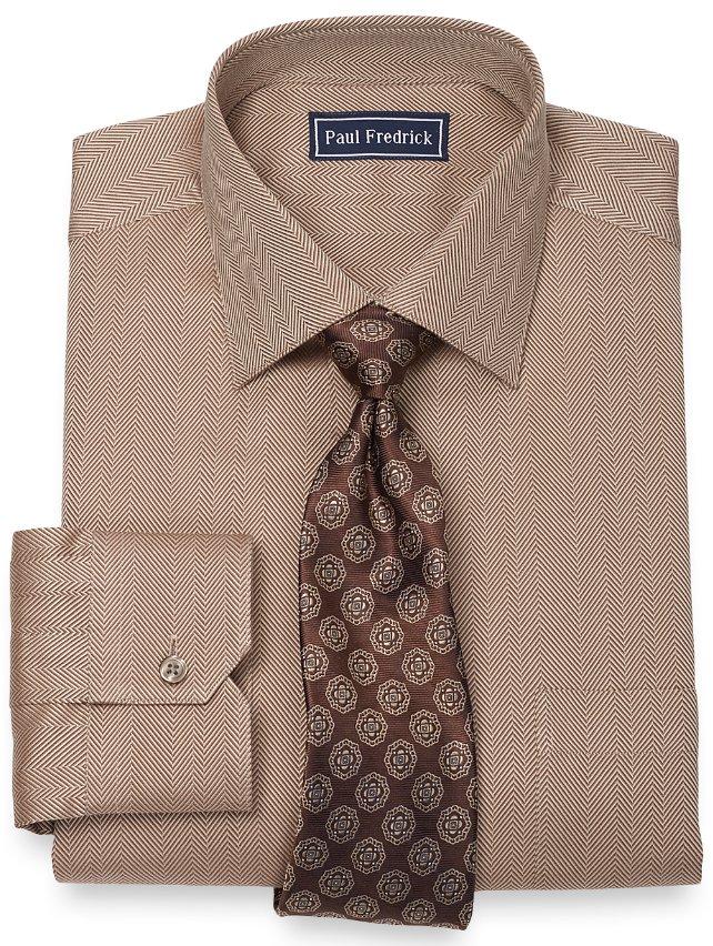 2-Ply Cotton Herringbone Spread Collar