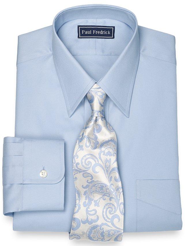 Egyptian Cotton Solid Straight Collar Dress Shirt