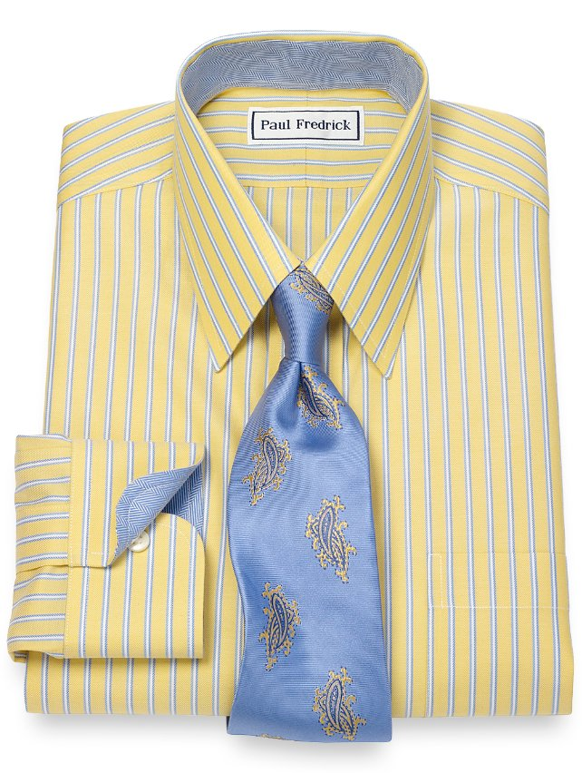 Non-Iron Twin Stripe Dress Shirt