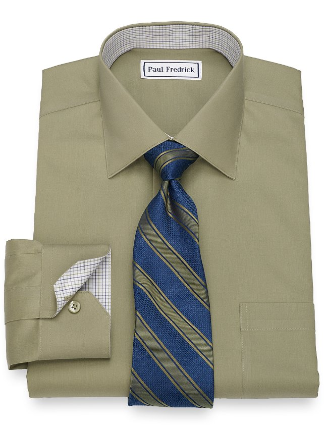 Slim Fit Non-Iron Cotton Pinpoint Oxford Dress Shirt