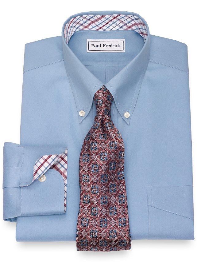 Slim Fit Non-Iron Cotton Pinpoint Oxford Dress Shirt